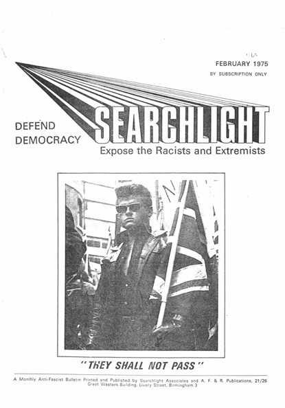 Searchlight, Radical Right, Xenophobia, National Front, Fascism
